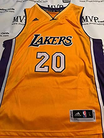 fb8220ae73b1 Amazon.com  Timofey Mozgov Gold Los Angeles Lakers Men s Size Large ...