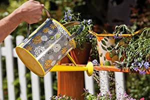 Yellow Floral Watering Can