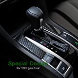 Thenice for 10th Gen Civic ABS Plastic Carbon Fiber Style Gear Panel Trim Shift Box Decoration Cover for Honda Civic 2020 2019 2018 2017 2016 -Automatic Transmission