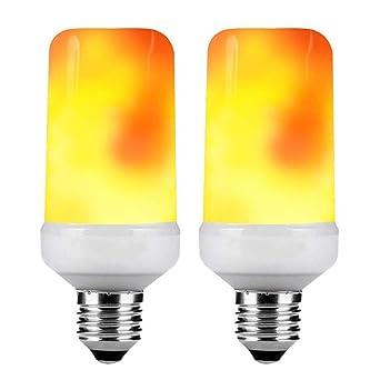 KDP Bombillas LED de Llama E27 1600K Luces Creativas con Parpadeo de atmósfera de emulación Lámparas