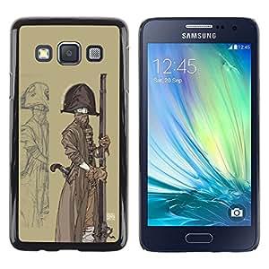 """For Samsung Galaxy A3 Case , Pirata marinero nave Sombrero Arma Barco Arte Pintura"""" - Diseño Patrón Teléfono Caso Cubierta Case Bumper Duro Protección Case Cover Funda"""