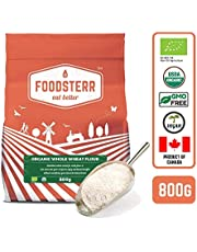 Foodsterr Organic Whole Wheat Flour, 800g