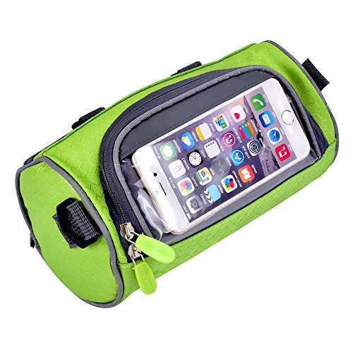 GZNIGHT Bicycle Bags Cycling Cylindrical Portable Front Handlebar Bag with Transparent Pouch for Riding and More Outdoor Activities Waterproof Mountain Bike Bag