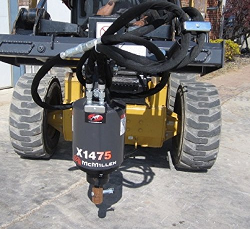 Skid Steer Auger Attachment (Skid Steer Loader X1475 Auger / Post Hole Drive Unit Attachment)