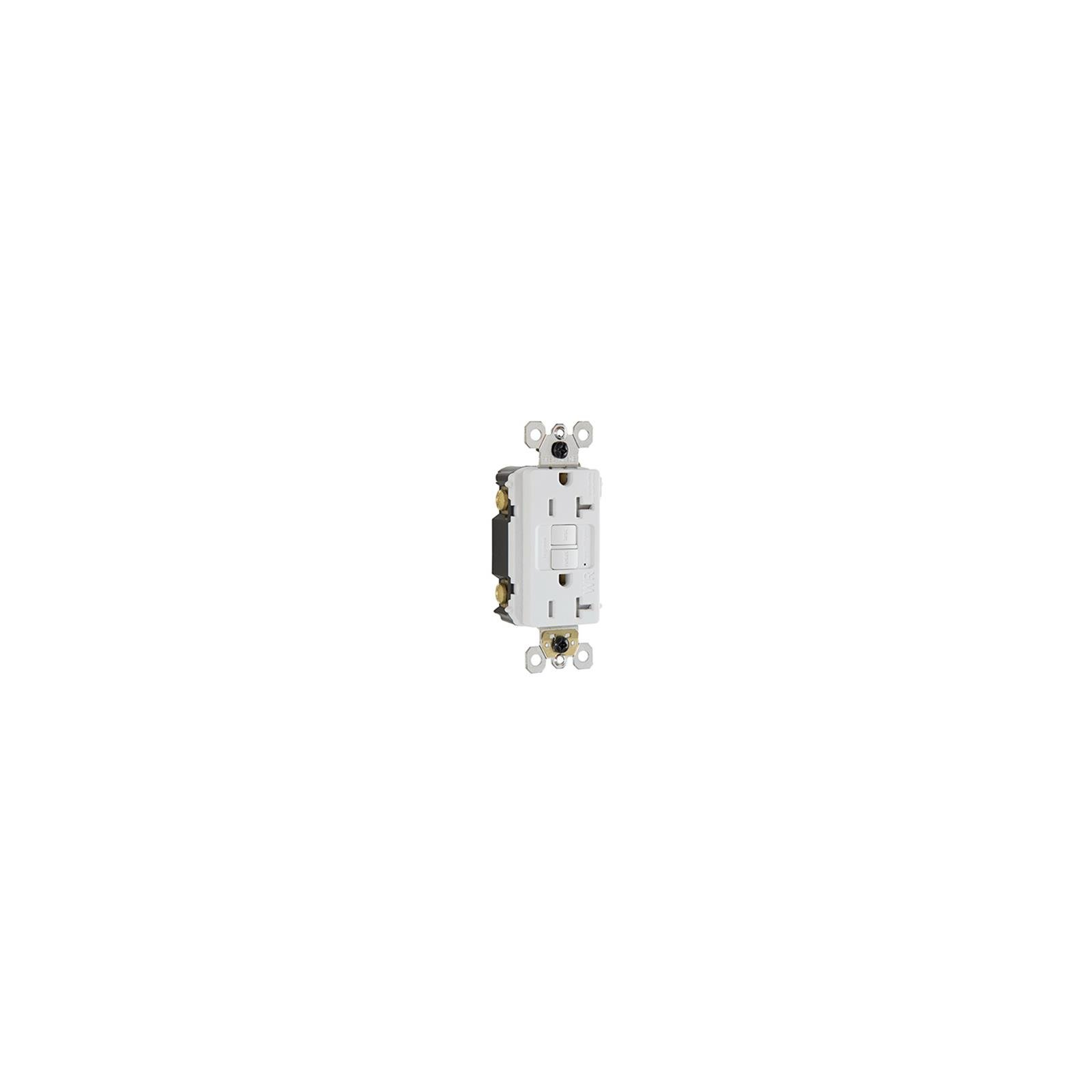Pass & Seymour 2097TRWRWCCD4 Weather Tamper-Resistant 20 Amp Self-Test GFCI Outlet, White