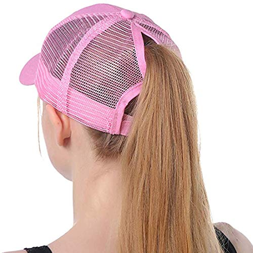 Free Ship Deal New Ponytail Baseball Cap (Baby Pink) (Cap Hat New Free Ship)