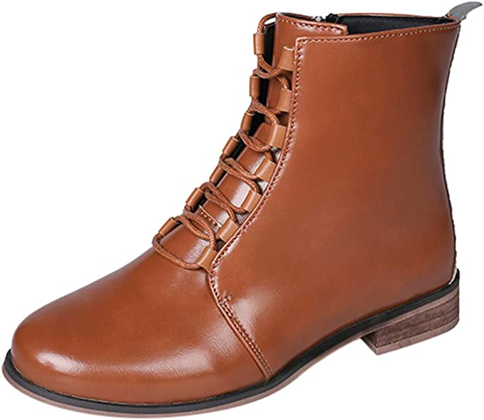 Kinlene Mujer Damas Moda Cuero Moda Roman Riding Cowboy Shoes ...