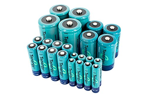 Tenergy High Capacity NiMH Rechargeable Combo with 24 batteries 8AA/8AAA/4C/4D --- SALE! by Tenergy