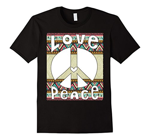 Mens PEACE SIGN LOVE T Shirt 60s 70s Tie Dye Hippie Costume XL (Sixties And Seventies Costumes)