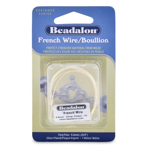 Beadalon French Wire 0.6mm Silver Plated, 1-Meter (Wire Bullion French)