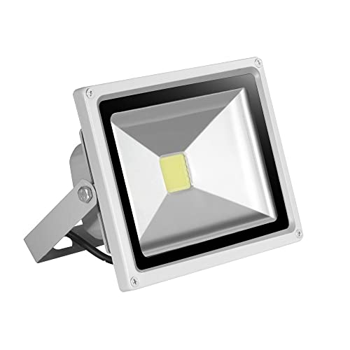 Ip65 led outdoor light amazon himanjie 20w led outdoor floodlight cold white6000 6500k high power aloadofball Images
