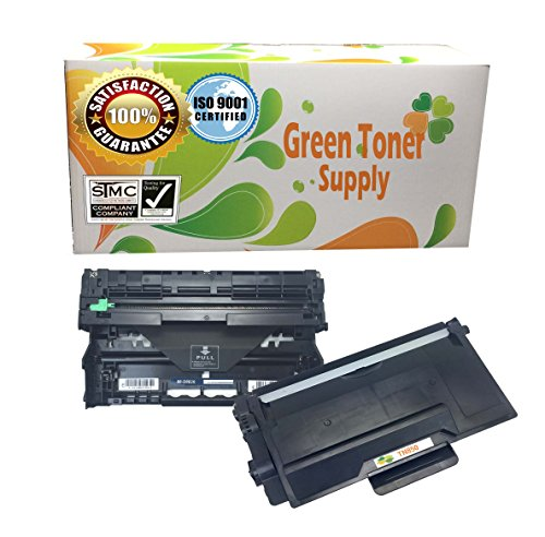 Green Toner Supply (TM) New Compatible [Brother TN-850 and DR-820, 2 Pack] LaserJet Toner and Drum Cartridge Combo