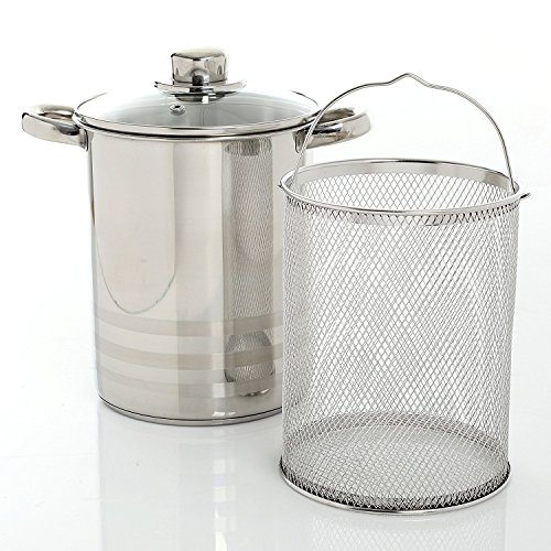 (Chef Quality Stainless Steel Steamer - 4 QT Vegetable Steamer or Stovetop Steamer Cooker )