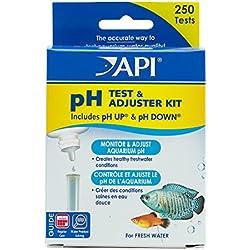 API pH TEST & ADJUSTER KIT 250-Test Freshwater Aquarium Water pH Test and Adjuster Kit