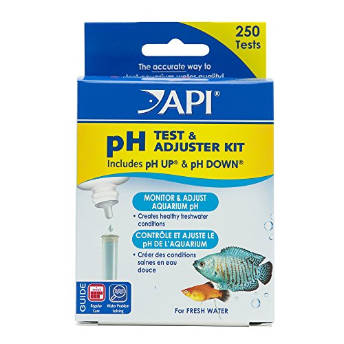 API pH TEST & ADJUSTER KIT 250-Test Freshwater Aquarium Water pH Test and Adjuster Kit