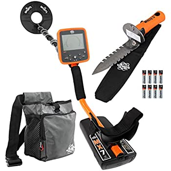 Whites MX7 Metal Detector Bundle, Digmaster Digger, Pouch & 9.5