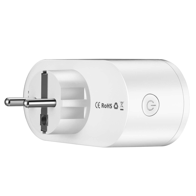 Mini Smart Plugs Compatible con Alexa Google Home Monitor de Energ/ía del Z/ócalo del Interruptor WAZA Enchufe Inteligente Wifi