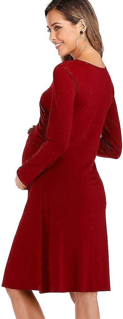 FRAUIT Abiti Premaman Eleganti da Cerimonia Abito Gravidanza Allattamento Vestiti Premaman Donna Foto Vestito di maternit/à Premaman Abbigliamento Elegante Maniche Lunghe