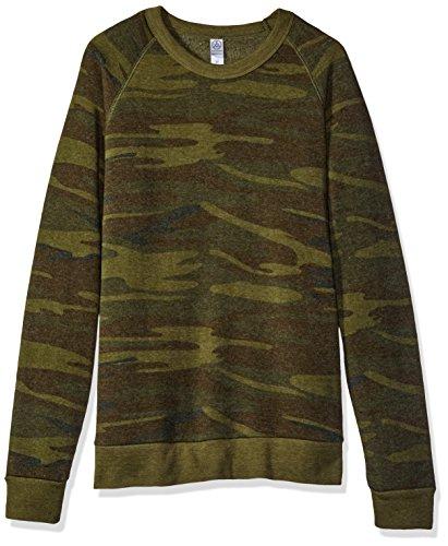 Champ Fleece Sweatshirt - Alternative Men's Eco Fleece Champ Sweater, Camo, M
