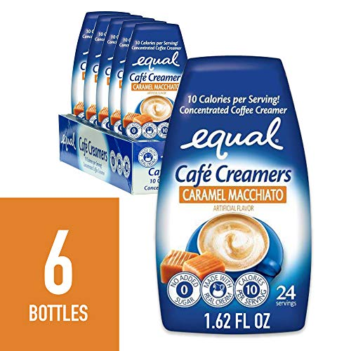 EQUAL Café Coffee Creamers Caramel Macchiato, Low-Calorie Coffee Creamer, 1.62 Ounce (Pack of 6)