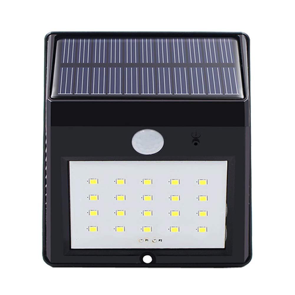 Luci solari 20 LED, luci di sicurezza a energia solare potenziate, sensore di movimento impermeabile Illuminazione esterna per porta anteriore, parete esterna, Patio, recinzione, giardino, vialetto