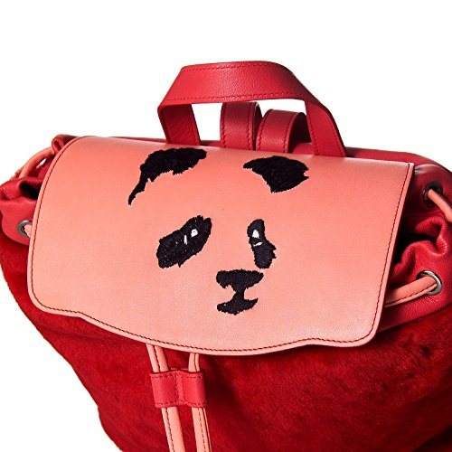 Stomacher - Borsa Zainetto donna panda in vera pelle shirling merinos 100% italiana