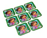 American Greetings Dora The Explorer Square Plate 8 Count Party Supplies Novelty, 7""