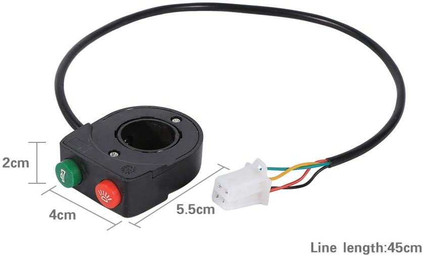 2 in 1 Motorcycle Headlights Horn Turn ON//OFF Switch Handlebar Grip Control Button Switches For Motorcycle Scooter Electric Bike