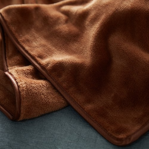 RedSonics - Brown Flannel Blanket Bed Mantas Soft Throw Fleece Winter Blanket For Children Adult Bedspread Sofa Bed Covers Quilts [ 180200CM ] by RedSonics (Image #3)