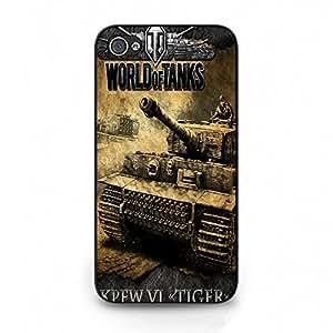 Hot Fierce struggle World of Tanks Phone Case Iphone 4/4S World of Tanks cool design adventurous