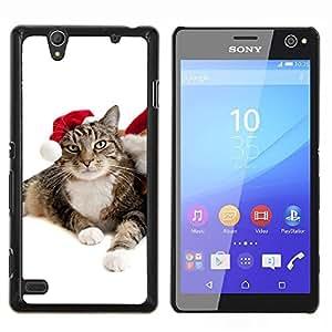 """Be-Star Único Patrón Plástico Duro Fundas Cover Cubre Hard Case Cover Para Sony Xperia C4 E5303 E5306 E5353 ( Gato de la Navidad Elf Mestizo Blue Eyes Foto"""" )"""