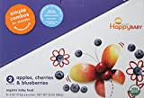 Happy Baby Simple Combos, Apples Cherries & Blueberries, (Pack of 8)