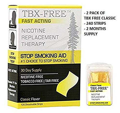 Stop Smoking Oral Strip Aid 120 Strips (240 Classic) 2 Pack of TBX