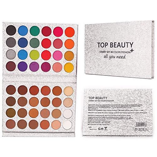 Beauty Glazed 48 Colors Eyeshadow Palette shine & matte Makeup Eye shadow Glitter Pigmented Eyeshadow Waterproof Durable Professional eye makeup palette by Beauty Glzaed