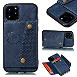 Shinyzone Case for iPhone 11 Pro 5.8 inch,Women Men Wallet Case with Card Slot Holder,Flip Leather PU Back Cover with Magnetic Buckle Closure Compatible with Magnetic Car Mount,Blue