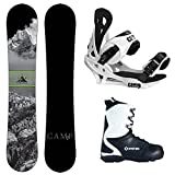 Camp Seven 2017 Valdez Snowboard Summit Bindings & APX Boots Men's Complete Snowboard Package