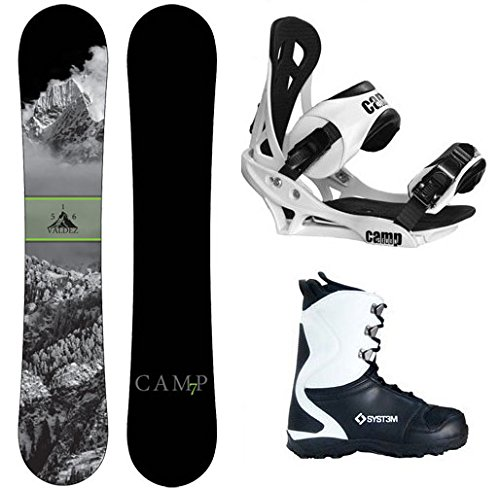 Camp Seven 2018 Valdez Snowboard Summit Bindings & APX Boots Men's Complete Snowboard Package