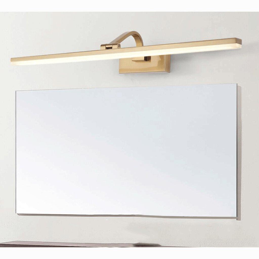 Luci da specchio Retr/ò specchio fari Bagno luce specchio a specchio Bagno Luce gabinetto luce Semplice trucco lampade Imitazione di rame processo placcatura durevole specchio fari