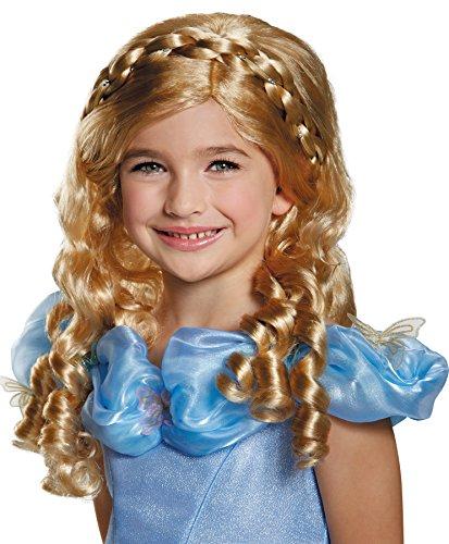 Cinderella Wig Movie Child (UHC Disney Princess Cinderella Movie Blonde Curls Wig Child Halloween)