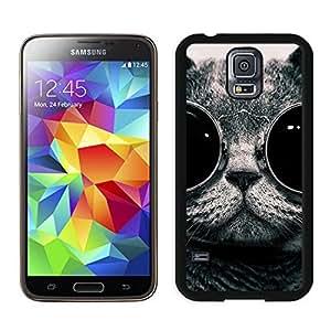 Custom Christmas Cat Black Samsung Galaxy S5 Case 44