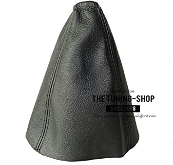 The Tuning-Shop Ltd For Mondeo MK3 2003-06 Gear Stick Gaiter Black Genuine Leather
