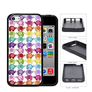 Colorful Mini Baby Elephant Pattern Rubber Silicone TPU Cell Phone Case Apple iPhone 5c