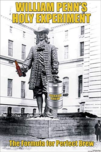 - ArtParisienne William Penn's Holy Experiment The Formula for Perfect Brew 20x30-inch Canvas Print