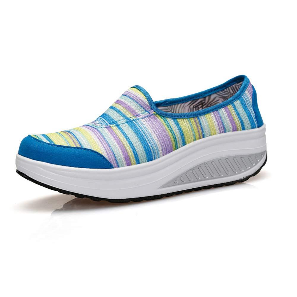 FangYOU1314 Les Femmes de 1/3 Chaussures Sapphire, de Toile Les de Maille augmentent Les Chaussures à Bascule Respirables paresseuses (Couleur : Sapphire, Taille : 37 1/3 EU) Sapphire 18d4323 - boatplans.space