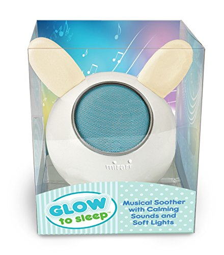 Glow to Sleep Musical Soother with Lights and Bluetooth (Ok For Baby To Sleep With Pacifier)