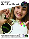NuFun Activities Inkjet Printable Glow in the Dark Shrink Paper, ON HOLIDAY SALE (25 Sheets)
