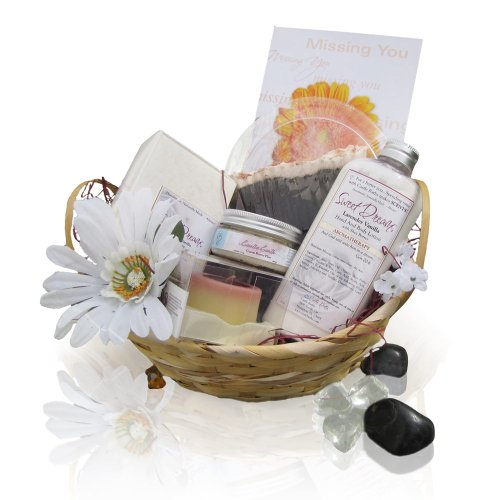 Slice of Life Spa Gift Basket with Chocolate & Vanilla Scented Personal Care Products - Ideal for Teens and 20-Somethings!