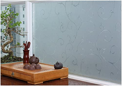 REUSABLE, Static Decorative Frosted Window Vinyl Static Film (1m x ...