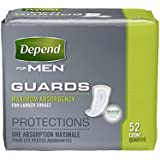 Depend Incontinence Guards for Men, Maximum Absorbency, 52 Count