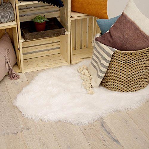 - Jean Pierre Faux-Fur 28 X 48 in. Area Rug, White